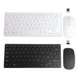 thin laptops Canada - Usb Wireless 2.4ghz Mini Keyboard Ultra-thin Mouse Combo Kit Set For Desktops Laptops T190624