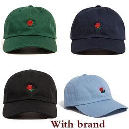 $enCountryForm.capitalKeyWord Australia - New Customized Design Baseball Hat Fashion Rose Strap Back Cap Adjustable Cheap Men Casquette Golf Snapback Hip Hop Flat Sun Hat Women