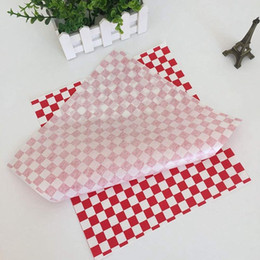 sandwiches box Australia - 100 PCS checkered deli candy basket liner Food Wrap Papers, Fat Repellent, Sandwich Burger Packing, Red and White