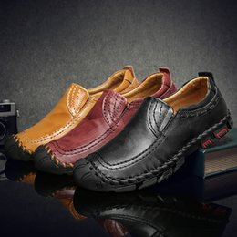 $enCountryForm.capitalKeyWord Australia - Men's Loafers Flats Driving Shoes Moccasins Spring Leather Zapatos Hombre Flat Comfortable Casual Handmade Slip-on For Men Light Size 38-46