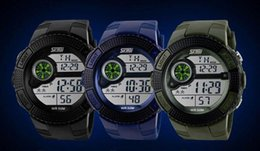Digital Diving Watches For Men Australia - Skmei Brand Men LED Digital Military Watch Fashion Sports Watches Dive Swim Outdoor Casual Wristwatches for Mem 1027
