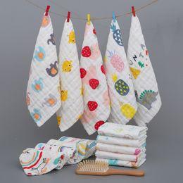 $enCountryForm.capitalKeyWord Australia - Cotton Gauze Towel INS Baby Bibs Floral Mermaid Print Square Towel 6 layer Newborn Bibs Muslin Burp Cloths Gauze Handkerchief GGA2308
