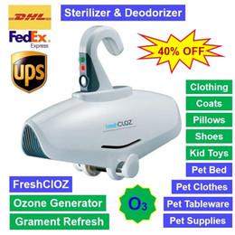 FreshClOZ Ozone Generator dobráveis Gabinete Atualizar roupa Garment Desinfecção Desodorante Esterilizador Calçados Brinquedos Pet Bed Pet Louça em Promoção