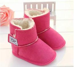 2019 новые сапоги зима Детская обувь новорожденных мальчиков и девочек теплый снег сапоги младенческой малышей Prewalker обувь размер на Распродаже