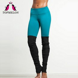 $enCountryForm.capitalKeyWord Australia - TOPMELON Yoga Pants Women Leggings Deportivas Mujer Sport Trousers High Waist Color Block Black Yoga Leggings Fitness Workout