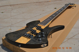 $enCountryForm.capitalKeyWord Australia - New Big John 4 Strings Electric Bass Guitar Quilted Maple Top Mahogany Body BJ-182