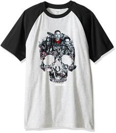 Long Tees Hot Men Australia - Men's T Shirt 2019 Spring Summer Hot Sale Hip Hop T-shirt For Men Top Print The Walking Dead Skull Punk Tee Shirts