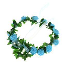 $enCountryForm.capitalKeyWord UK - Ins fashion children hair hoist Bracelet Lovely Floral Garland Wedding Headwear princess Flower Headband for Kids Baby Girl Jewelry
