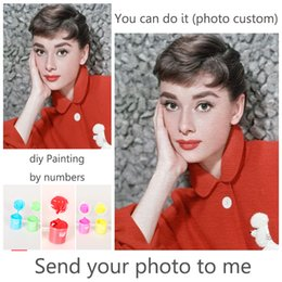 personality photos 2019 - Personality Photo Customized DIY Painting By Numbers Picture Drawing Coloring by Numbers Acrylic cat adult with frame di