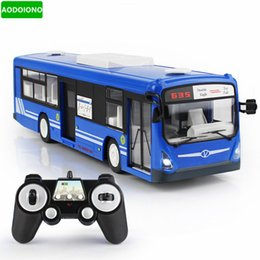 Discount car toys open doors - 2.4G Remote Control Bus Car Charging Electric Open Door RC Car Model Toys for Children Gifts