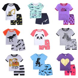 $enCountryForm.capitalKeyWord UK - Wholesale19styles Baby girls boys Light home Clothes Casual Short-Sleeved Cartoon pattern T-shirt Dress Cute Summer Cotton Dress with Animal
