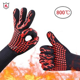$enCountryForm.capitalKeyWord Australia - 2018 hot sale glove High temperature resistant Barbecue oven gloves Insulation anti-scalding microwave BBQ gloves