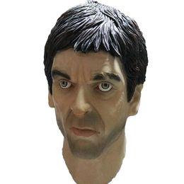 Full human mask online shopping - Halloween male full face Latex Mask Hood Overhead Wigs Human Skin Face Disguise Prank Halloween costume Realistic Latex Mask