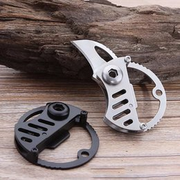 multi key blade UK - Mini Folding Coin Knife Portable Multi Carry Hand Tool Small Pocket Hanging Key chain Outdoor Camping Hunting Survival China Knives