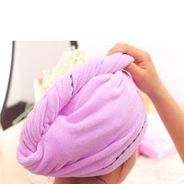 cotton hair wraps NZ - 2pc Rapided Drying Hair Towel Quick Dry Hair Hat Wrapped Towel Bathing Cap Dry Cap Salon Makeup Cosmetics