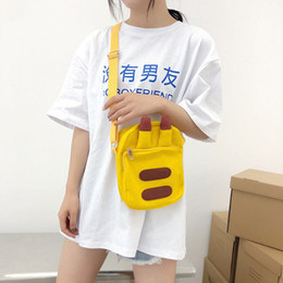 popular japanese cartoons NZ - Japanese Canvas Bag Female Cross Body Cute Little Bag Girl Student Korean Style Adorable Pikachu New Popular Bag