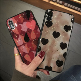 Peach iPhone online shopping - Bling Epoxy TPU case cover for IPHONE XS MAX XR XS PLUS Love Leopard Grid Peach Pattern