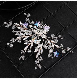 $enCountryForm.capitalKeyWord Australia - 2019 Newest Star Flowers Handmade Wedding Hair Comb Clips Austrian Crystal Bridal Hair Jewelry Accessories Headpieces JCH214