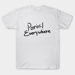 032cdb603b2c Printed Men T Shirt Cotton tShirt O-Neck Short-Sleeve New Style  panic!everywhere Panic At The Disco Women T-Shirt