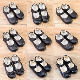 $enCountryForm.capitalKeyWord Australia - Toddler Girls School Leather Shoes 7+Matte Hook Bow Tie Girls Rubber Single Shoes Stage Dance Peform Solid Shoes Party Casual Footwear 5-14T