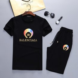 $enCountryForm.capitalKeyWord Australia - 5 psc Free BBG Italy mens sportswear Short sleeve suits Brand Fashion Sweatshirts Letter Sports Suit Running Medusa suit M-3XL