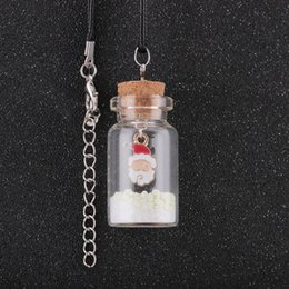 glass bottle charm for necklace 2020 - Chic Style Luminous Christmas Tree Seat Glass Bottle Pendant Necklace Charm Girls Glow in the Dark Jewelry for Women Gif