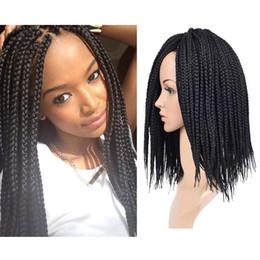 """Discount hair braiding hairstyles - Hot Sale! 1 Packs 18"""" 3S Box Braids Crochet Hair Synthetic Hair Extensions Twist Crochet Braids Hairstyles Kanekalo"""