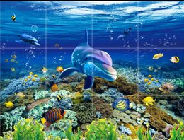 $enCountryForm.capitalKeyWord Australia - Waterfall Carp 3D Floor Mural Wallpaper Marine world floor tiles Thick Self-adhesive 3D Floor Tiles PVC Wallpapers