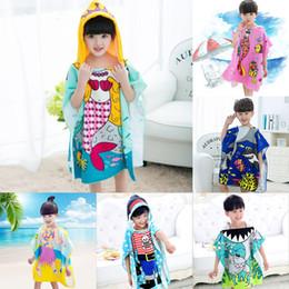 2bf8cfe1a03f 19 stili Mermaid accappatoio Kids Robes cartoon squalo animale Camicia da  notte Asciugamani per bambini Accappatoi con cappuccio C2508