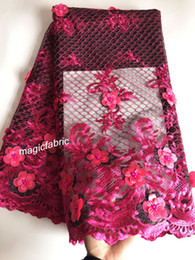 Wholesale tulle lace nigerian fabric resale online - French Net Lace Fabric Latest African Lace Fabric With Embroidery Mesh Tulle Lace Fabric High quality Nigerian LaceCHY18130