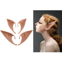 Angel mAsk online shopping - 1Pair Angel Elf Ears fairy Cosplay Accessories Party Mask False Latex Ear Prosthetic Masks Soft Cos Halloween