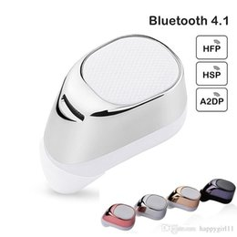 Wholesale Good quality Wireless Bluetooth Mini Earphones Stereo Handsfree In ear Headset With MIC for iPhone for Smart Phones Bluetooth Devices