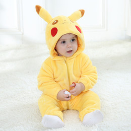Discount winter animal baby onesie - Baby Girl Clothes Animal Baby Rompers Costume New born Bebe Clothing Panda Hooded Toddler onesie Pajamas Winter Boys Jum