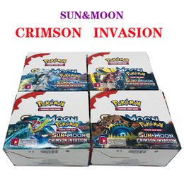 Wholesale Sun Moon Card box Anime Collection Trading Card Games Seris Black White Ultra Sun and Moon Printing Monsters Cards Novelty Toy Gifts