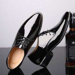 $enCountryForm.capitalKeyWord NZ - Hot Sale-size 38-48 Mens Patent Leather Shoes Black Brand Designer Pointed Toes lace up Men Dress Italian Leather Shoes oxfords wedding shoe