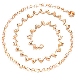 $enCountryForm.capitalKeyWord Australia - Maxi Women's Alloy Golden Pearl Belt Chain, Adjustable Narrow Gridle Band for Women Wear with dress for Party, DHL Shipping