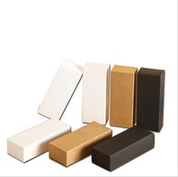 $enCountryForm.capitalKeyWord Australia - Blank White Black Kraft Paper Box for Dropper Bottle Cosmetics Party Gift Boxes valve tubes 100pcs lot 10ml 20ml 30ml 50ml 100ml
