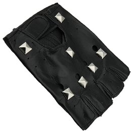 $enCountryForm.capitalKeyWord Australia - Halloween Carnival Studded Cool Gloves Adult Child Punk Leather Half Finger Gloves Outdoor Motorcycle bicycle Riding