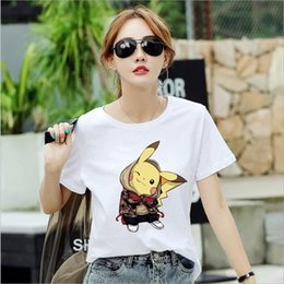 Cotton Net T Shirts Australia - Real shot big detective Pikachu cotton t-shirt female short-sleeved net red tide brand loose shirt women