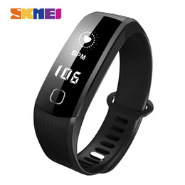 Rate Touch Screen Watches NZ - SKMEI B21 Smart Band Heart Rate Monitor Smart Bracelet Waterproof OLED Touch Screen Bluetooth Wristwatches Sport Fitness Smart Watch