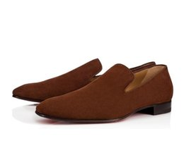China Perfect Gentleman Dandelion Flat Genuine Leather Loafers & Slip-ons Red Bottom Men Oxford Shoes Party Dress Wedding Walking With Box supplier perfect shoes suppliers