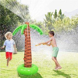 $enCountryForm.capitalKeyWord Australia - Water Play Sprinkler Inflatable Palm Tree Kids Spray Water Toy Outdoor Party Summer Fun for Backyard Play pool party decoration SH190909