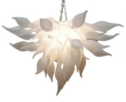 $enCountryForm.capitalKeyWord Australia - Artistic White Murano Chandelier Light China Supplier Cheap Hand Blown Glass Chandelier for Art Decor LED Bulbs