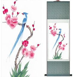 Ink Paintings Australia - Chinese Ink Painting Traditional Birds And Flower Painting Spring Ink Wash Painting Silk Scroll Birds And Flower Painting2019061511