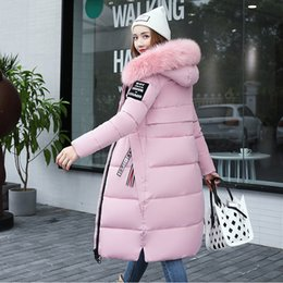 $enCountryForm.capitalKeyWord NZ - 2019 down cotton suit thickened coat women ' s winter bread cotton ins in long over knee bf fur collar hooded fashion coat