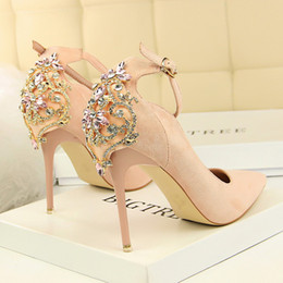 $enCountryForm.capitalKeyWord NZ - High Heels Shoes Women Pumps Office Lady Flock Pointed Toe Wedding Shoes Sexy Diamond Pumps Sapato Feminino
