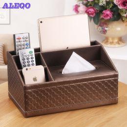 $enCountryForm.capitalKeyWord Australia - Tissue Box Multi functional Napkin Holder PU Leather Remote Controller Storage Box Desk