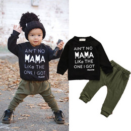 christmas clothes Australia - 0-3Y Newborn Toddler Infant Kid Baby Boys Clothes Long Sleeve Mama Sweatshirt Top +Pants 2pcs Outfits Kids Clothing
