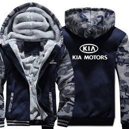 microfiber clothing Australia - Autumn Winter male Hoodie warm KIA Motors Sweatshirt advertising jacket Thickening Coats Zipper Fleece clothes LY191209