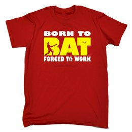 $enCountryForm.capitalKeyWord Australia - Born To Bat Forced To Work MENS T-SHIRT tee birthday cricket cricketer funnyCartoon t shirt men Unisex New Fashion tshirt